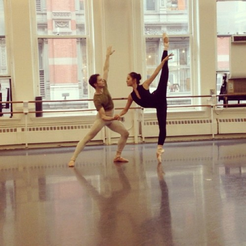 balletstandsforbeautiful:  Joseph Phillips With Joseph Phillips rehearsing Diana and Acteon PDD at ABT. http://instagr.am/p/
