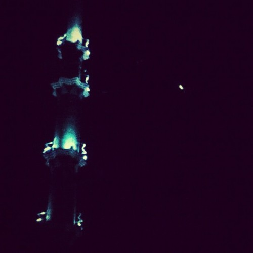 The #tower and the #moon ~ #mosque #iphonesia (Taken with Instagram)