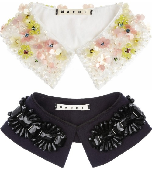 Marni Fall 2012 Embellished Collars