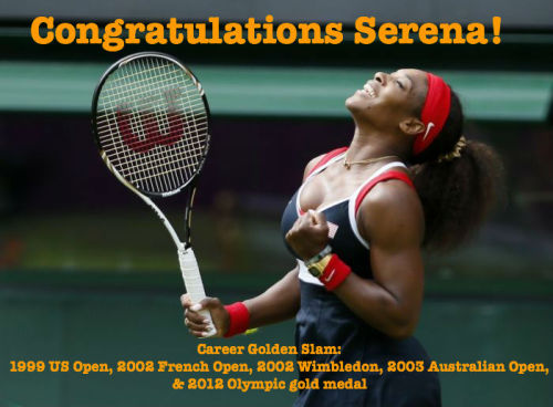 Serena is only the 2nd woman in history to ever achieve a Career Golden Slam!