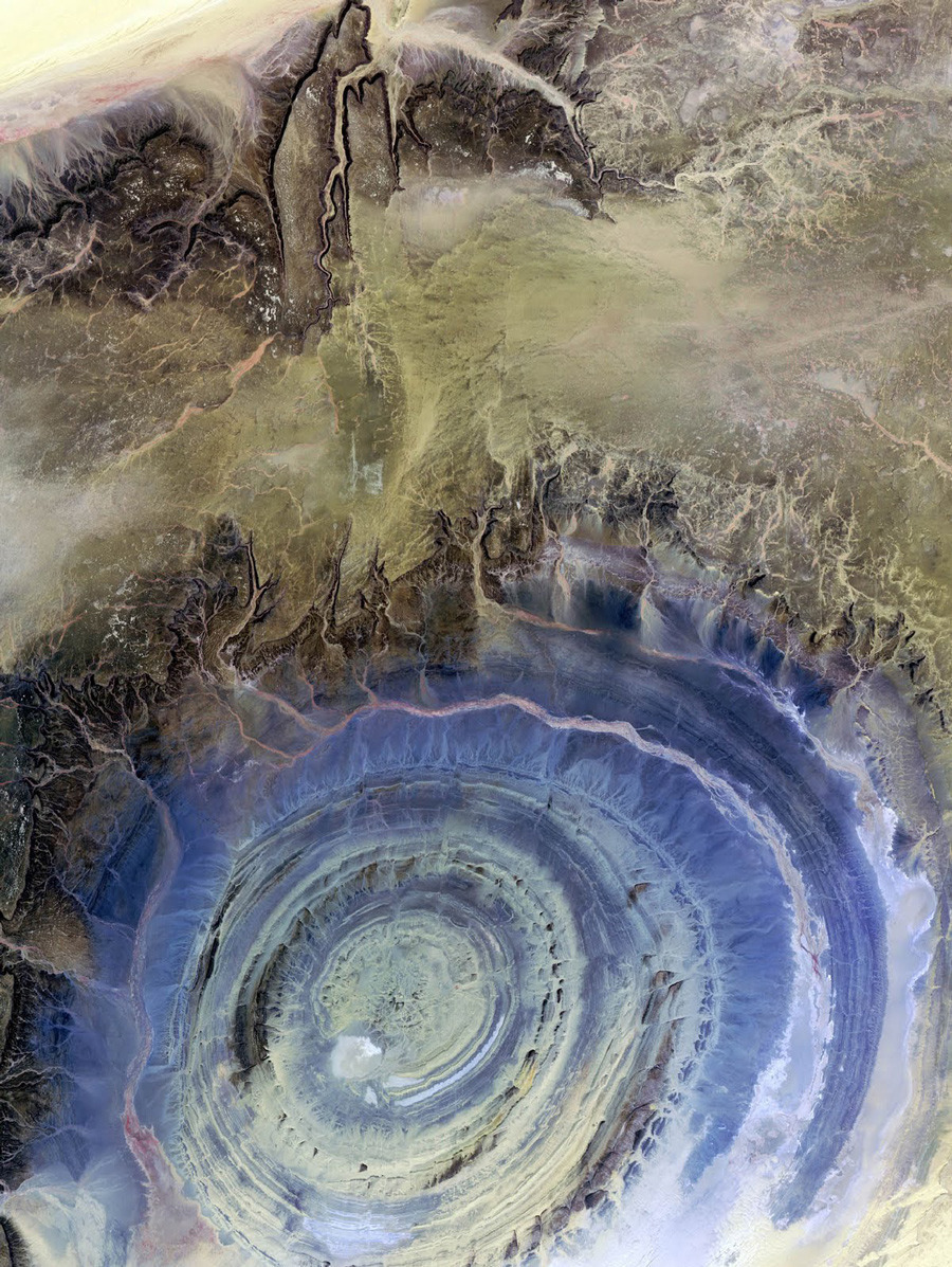 opto-phobia:  The Richat Structure in the Sahara desert of Mauritania