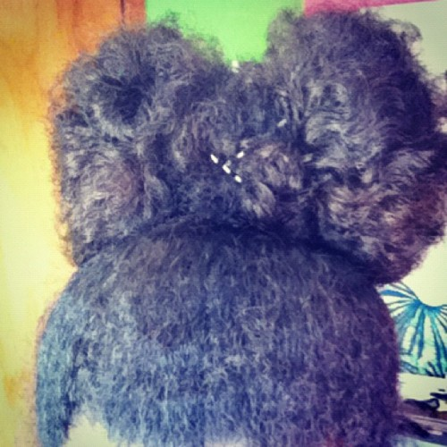 Afro hair Bow👍😁🎀 #afro #bow #itispossible  (Taken with Instagram)