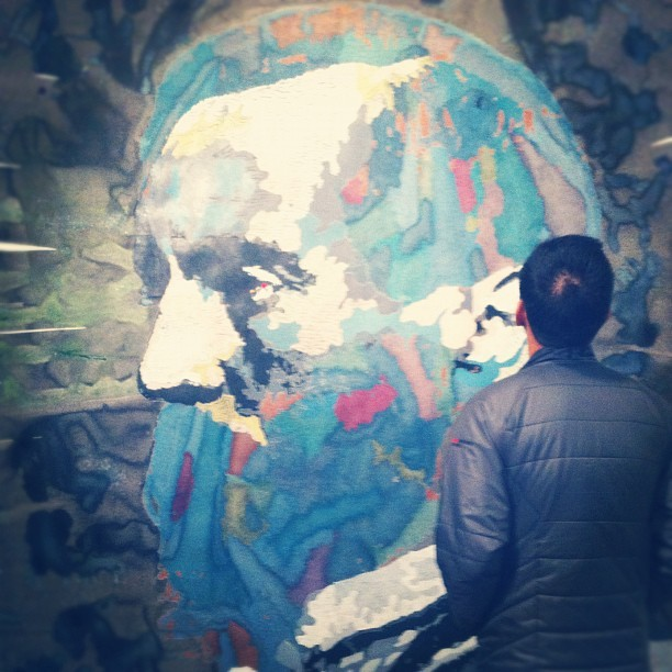 boy + art. What's not to love (Taken with Instagram at Oakland Art Murmur)