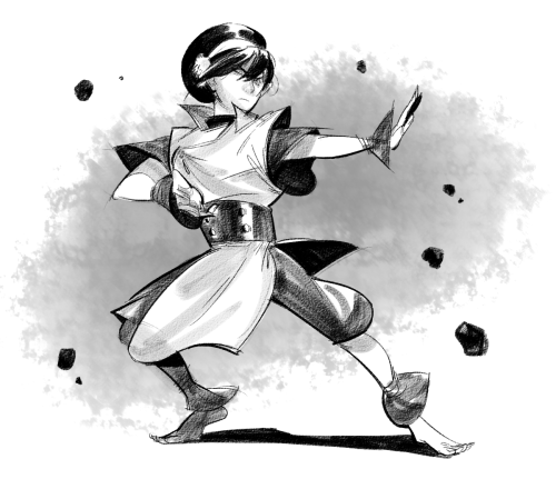 areyoujun:  Toph for a sketchtrade with heysawbones!    Oh man! I missed this because I don't track my username. GUH AWESOME, this is great!