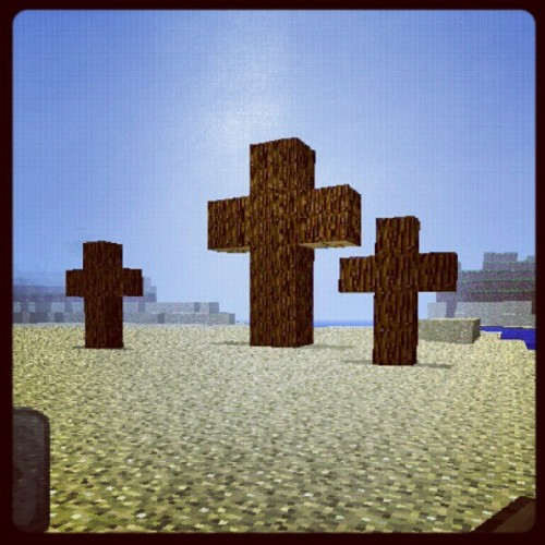 Is it ok to play video games now? (Made this in Mine Craft)  (Taken with Instagram)