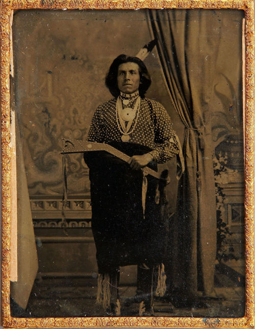 ca.1863, [tintype portrait of an unidentified Native American man, possibly Iowa Chief Black Hawk] A. Zeno Shindler via Heritage Auctions