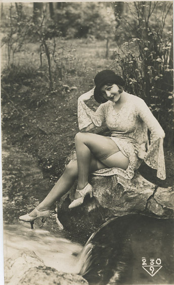 maudelynn:  A Day in the Park 1920s risque postcard