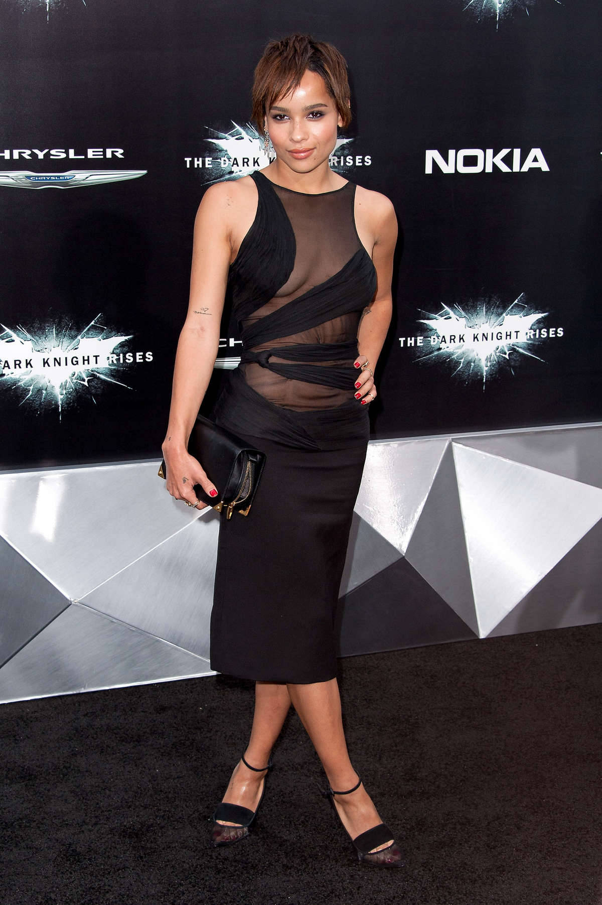 Zoe Kravitz at  The Dark Knight Rises  Premiere in New York July 17, 2012