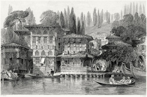 oldbookillustrations:  Greek priest's house, near Yeniköy, on the Bosphorus.  Thomas Allom, from Constantinople, by Robert Walsh, London, 1839.  (Source: archive.org)