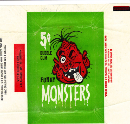 Funny Monsters wrapper (1959)