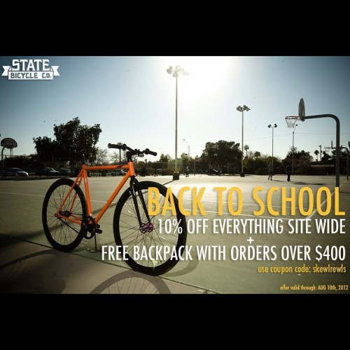 statebicycle:  Don't miss it #statebicycleco (Taken with Instagram)
