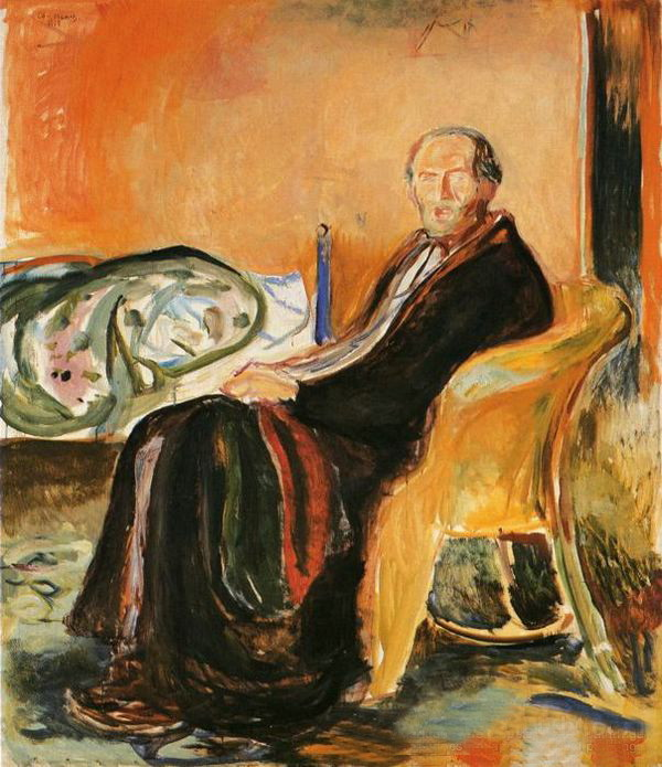 Edvard Munch, Self-portrait after Spanish influenza, 1919