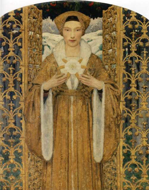 the-unknown-friend:  The Snow Queen, by Edgar Maxence  At first I thought this was Benedict Cumberbatch.