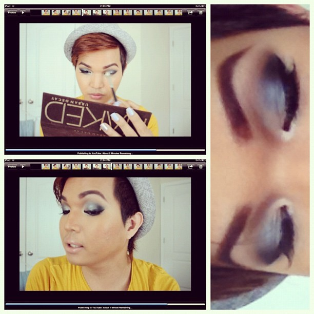 It should be live soon! www.youtube.com/chaaard 😊 #motd #lotd #fotd #youtube #tutorial #nakedpalette #urbandecay #smokyeye #asianeyes #makeup #makeupartist #makeupjunkie #makeupdiaries #maccosmetics #mufe #tarte #ilovemacboys #macboys #instagramhub #igdaily #instagood #instalove #instahub #ignation #igdaily  (Taken with Instagram)