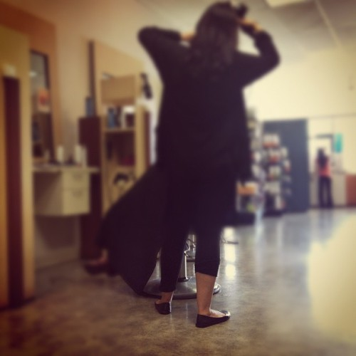 One pant leg up #hood at #supercuts (Taken with Instagram)