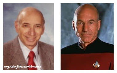 Okay, who else thinks my Dad looks like Captain Picard?