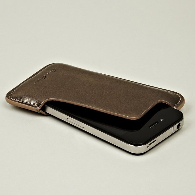 Rick Owens Metallic Leather iPhone Case