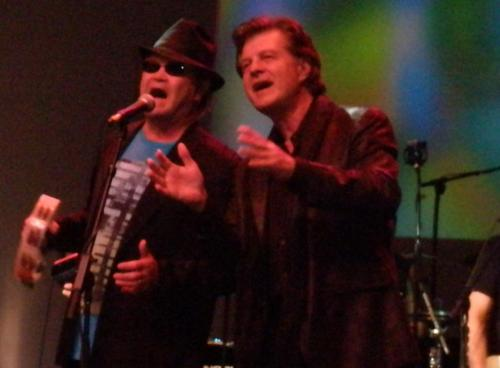 Micky Dolenz and Carl Giammarese (The Buckinghams) during the finale of the Happy Together Tour, Clearwater, FL, 15 June 2012. Photo credit: Laura Pinto