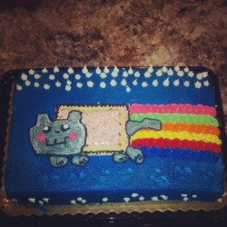My nyan cat cake :D -Cheyenne   (Taken with Instagram)