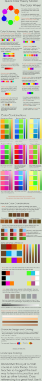 deviantart:  Color Theory Crash Course by *pronouncedyou #DailyDeviation