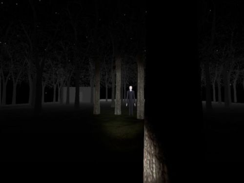 videogamenostalgia:  Slender: Source Officially In Development If you've already played Slender, prepare for more content, more collectibles, and more scares. You may even be able to play with a friend or two, trying to escape the frightening Slender Man. You'll still be collecting journal pages, but you'll also be looking for porcelain dolls scattered about. And now, the further you stray from your partner, the more likely you are to be abducted. The release of the Half-Life 2 mod isn't slated until around February or March of 2013, but when it drops, be on the lookout.
