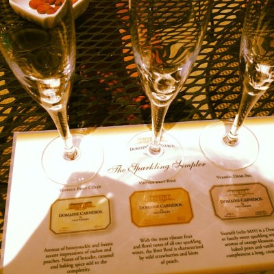 Trying out the methode champenoise (Taken with Instagram at Domaine Carneros)