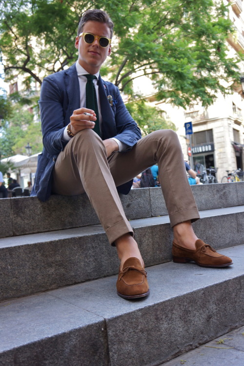 sartorialdoctrine:  Summer casual in Barcelona.