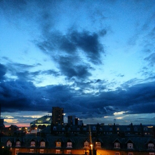 Beautiful clouds above Manchester tonight!  (Taken with Instagram at The Ice Plant)