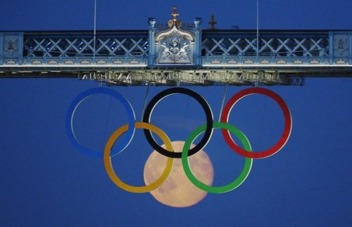 One of the coolest Olympic photos yet.