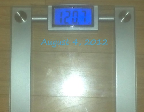 Today's Weight: 120.7 lbs.Total Lost: 16.9 lbs.120!!!!!!!!!!!!!!!!!!!!!!! I DID IT!!!!!!!!!!!!!!!!!!!!!!!!!!! Not only that, but I'm wearing my goal bikini to a beach house party today!!!!!! GREAT DAY!!!!!!!!!!!!