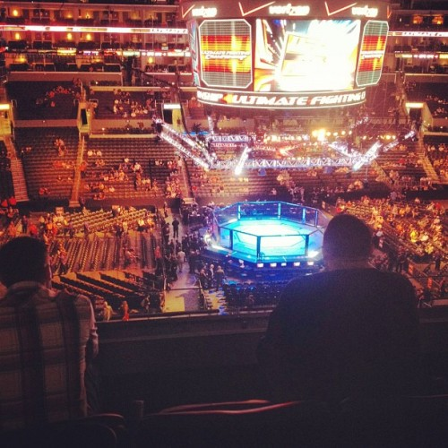 Our suite. #ufc (Taken with Instagram)