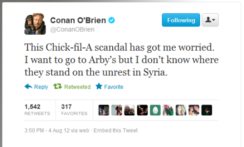 I feel like Conan O'Brien hit the nail on the head.