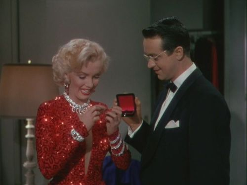 #Marilynettes ~ Lorelei Lee loves her new diamond ring!