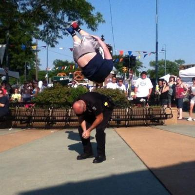 giveherthed:  Side flip over a cop  and that ladies and gentleman is how you evade the police…..fuck da police!