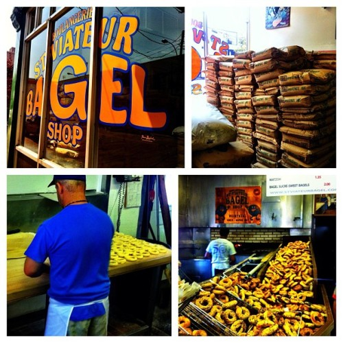 Bagel-polooza: process of how a real bagel is made … #montreal #mtl  (Taken with Instagram)
