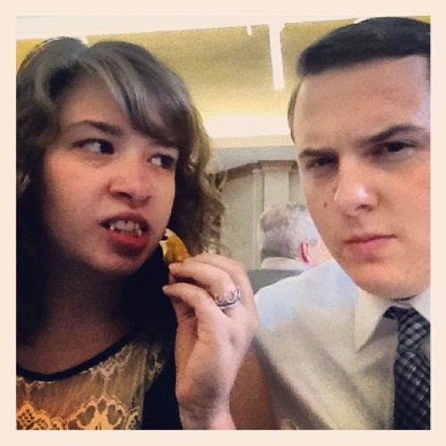 .@jmbillinger and I at the wedding reception. (Taken with Instagram)