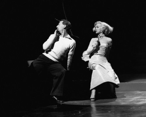 "#Marilynettes ~ Marilyn Monroe rehearsing ""Diamond's Are A Girl's Best Friend"" with choreographer Jack Cole."