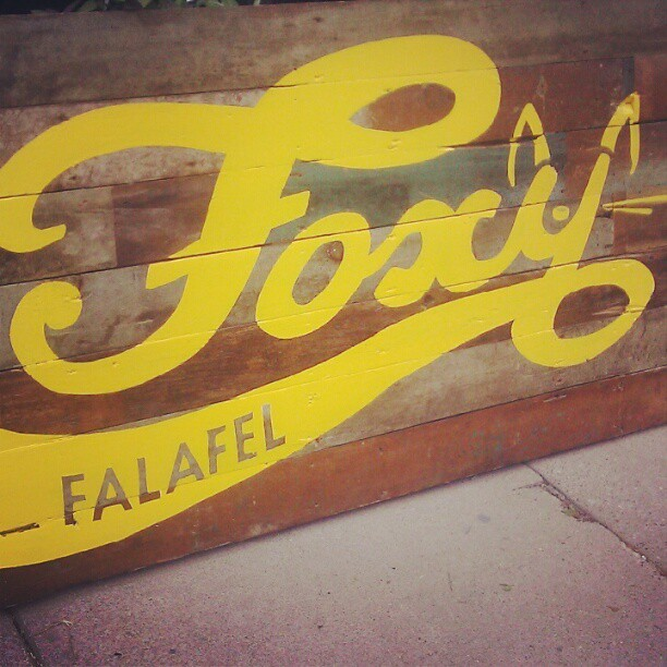 Sign love inspiration. A new Falafel restaurant in Saint Paul off of University and Raymond called Foxy Falafel.  [ Taken with Instagram ]