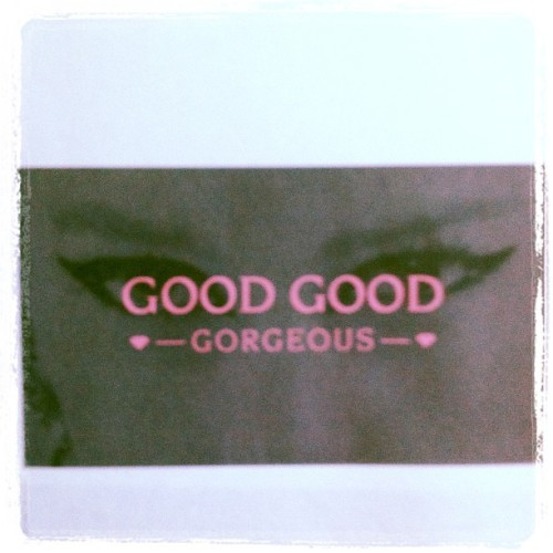 In creation of GoodGoodGorgeous logo and business card:) thanks to my hubby!!!  (Taken with Instagram)