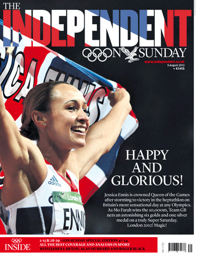 Happy and glorious! The Independent on Sunday, August 5th 2012