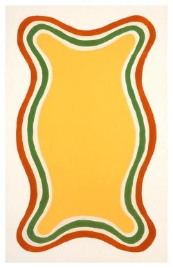 Paul Feely Untitled (March 8), 1963 Oil-based enamel on canvas 48 1/4 x 30 inches