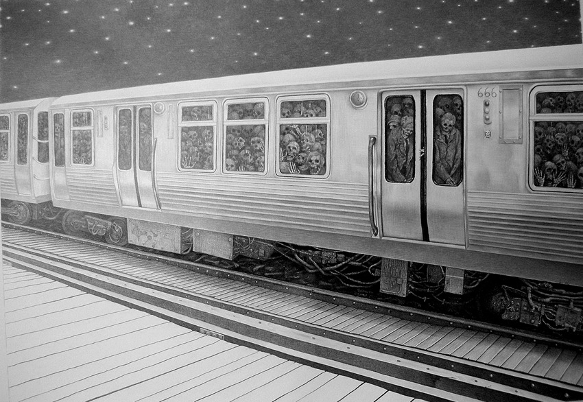 vvolare:  Family Reunion and Midnight Commuters by Laurie Lipton