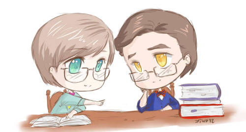 Oh oh oh oh!! Can you do Nerdy!Klaine? Like, them studying together in little glasses and little cardigans and all giddy and in love and insanely adorable~ by pastelsandboykisses