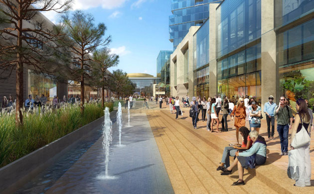 Illustration of the changes to Harlow Town Centre