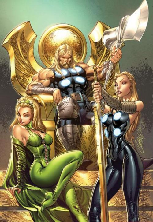 Ultimate Thor and his bitches