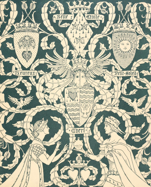 fuckyeahvintageillustration:  Endpapers for 'Princess Belle-Etoile' illustrated by Walter Crane. Published 1909 by John Lane. Source