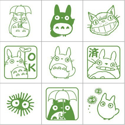 kokoro-takeda:  My Neighbour Totoro Stamps (Taken from: http://duitang.com)