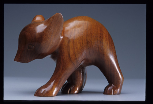 Amanda Crowe (Cherokee) Young Bear Wood Carving