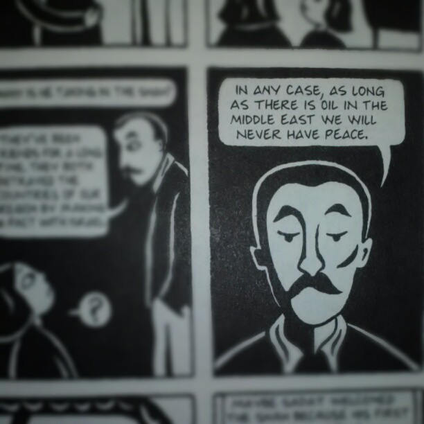 hordorvers:  #persepolis — I got this for one of my classes next semester but it's really interesting and I can't stop reading. (Taken with Instagram)