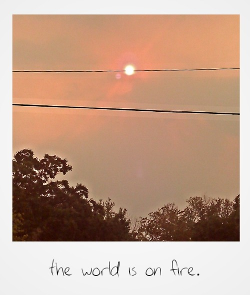 Oklahoma is burning. The sky in Tulsa is yellow; the sun is orange. Ash is fluttering down, like tiny, sooty dancers. A toast, if you will, to heat and chaos.